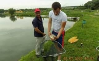 Платная рыбалка в деревне красное