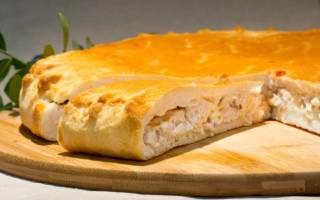 Пирог с рыбой и картошкой из дрожжевого