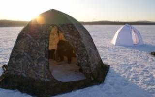 Палатка для рыбака своими руками