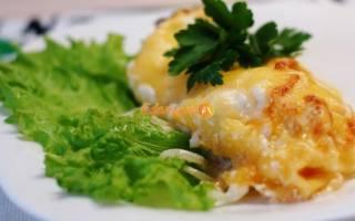 Филе рыбы запеченное в духовке с майонезом
