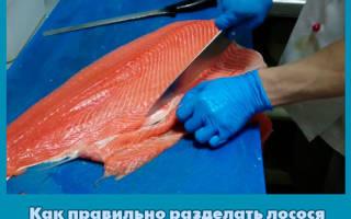 Лосось разделка рыбы