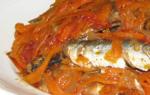Салат на зиму рыба с овощами