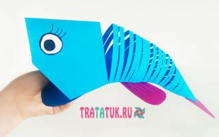 Как сделать рыбу из бумаги оригами видео