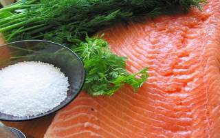 Разделка красной рыбы для засолки