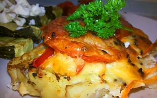 Рыба запеченая с сыром
