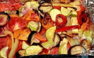 запеченное с овощами