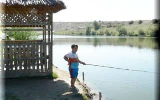 Рыбалка в поселке зарождение