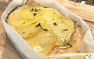 Форель с картошкой в духовке слоями